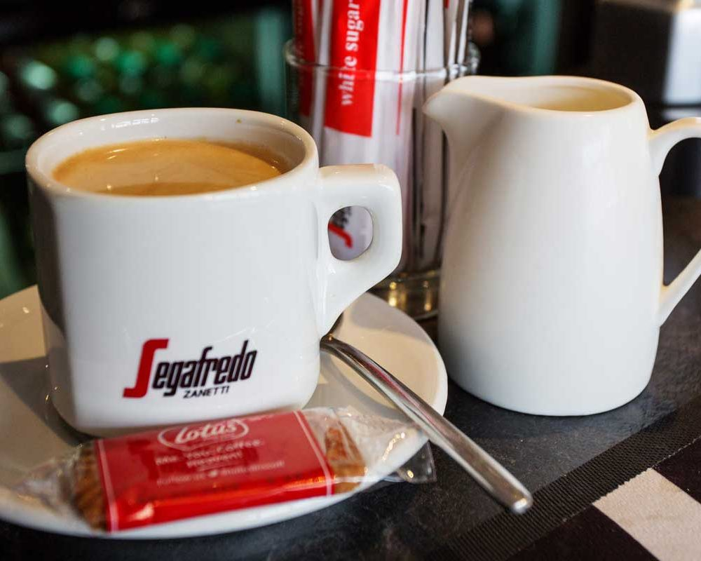 Fresh coffee served at The Bath House Hotel & Restaurant
