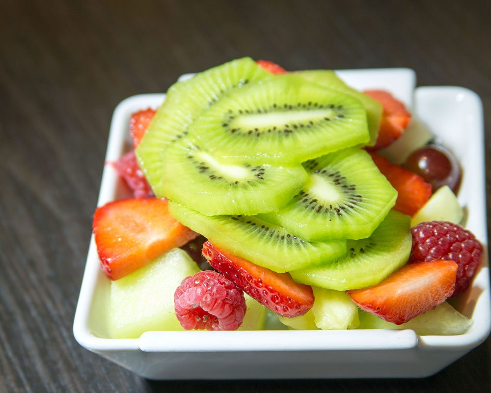 Fresh fruit salad breakfast at The Bath House Hotel