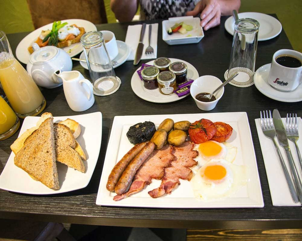 Full English Breakfast served at The Bath House Hotel