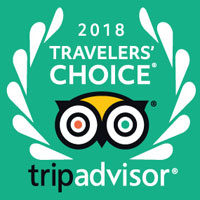 Top rated Tripadvisor 2018 Travellers Choice Award